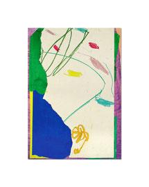 2003,  Collage (Acryl und Ölkreide auf Papier auf Holz), 59 x 42 cm