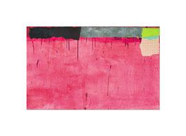 2003,  Collage (Pigmente und Binder auf Papier auf Leinwand), 100 x 160 cm