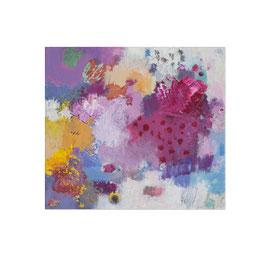 2018, Pigmente und Binder auf Leinwand, 45 x 50 cm