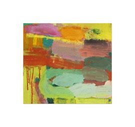 2012, Pigmente und Binder auf Leinwand, 100 x 110 cm