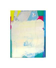 2003,  Collage (Pigmente und Binder auf Papier auf Holz), 85 x 64 cm