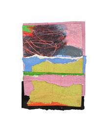2003,  Collage (Acryl und Ölkreide auf Papier), 16 x 11 cm