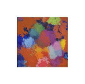 2019, Pigmente und Binder auf Leinwand, 40 x 40 cm