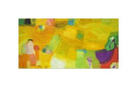 2013, Pigmente und Binder auf Leinwand, 100 x 200 cm