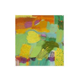 2012, Pigmente und Binder auf Leinwand, 100 x 95 cm