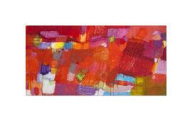 2015, Pigmente und Binder auf Leinwand, 100 x 200 cm
