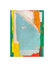 2003,  Collage (Acryl auf Papier, diverse Papiere und Karton auf Holz), 59 x 42 cm