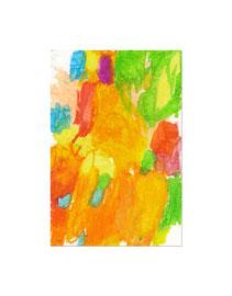 2010, Ölkreide auf Papier, 20 x 13 cm