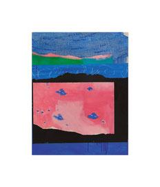 2003,  Collage (Pigmente und Binder auf Papier auf Holz), 71 x 56 cm