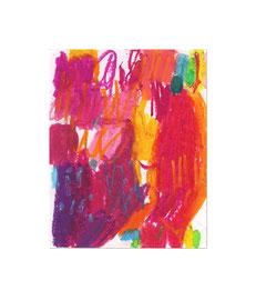 2010, Ölkreide auf Papier, 20 x 16 cm