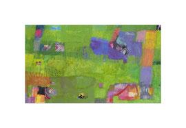 2012, Pigmente und Binder auf Leinwand, 90 x 155 cm
