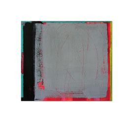 2002, Pigmente und Binder auf Leinwand, 70 x 80 cm