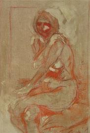 Ritratto di ragazza a sanguinia  120x80cm  08'07