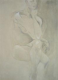 Ritratto di donna seduta  100x70cm  11'06