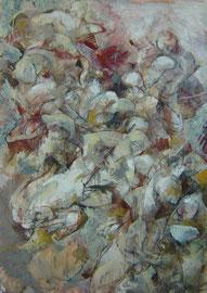 Composizione (Centauromachia) 197x140cm  02'08