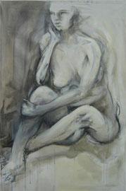 Ritratto di donna seduta  120x82cm  12'06