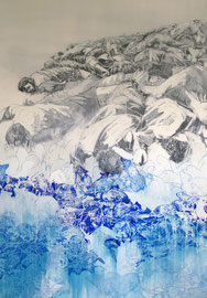 Pied piper 200x140cm, mixed media on canvas, 2012
