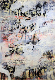 Untitled (migration), mixed media on canvas, 200x140cm, 2015