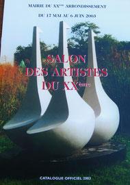 1 - Catalogue officiel 2003 du Salon du XXème arrdt. - Mairie du XXème - PARIS