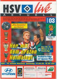 17.09.1995 Nr.3 HSV-Hansa Rostock