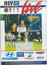 08.03.1996 Nr.12 HSV-Fortuna Düsseldorf