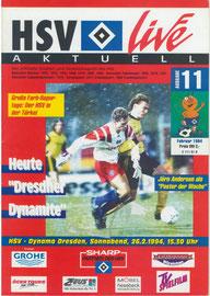 26.02.1994 Nr.11 HSV-Dynamo Dresden
