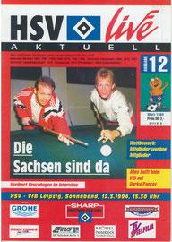 12.03.1994 Nr.12 HSV-VFB Leipzig