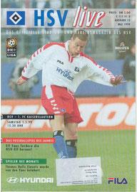 01.05.1999 Nr.15 HSV-1.FC Kaiserslautern