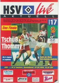 07.05.1994 Nr.17 HSV-1.FC Kaiserslautern