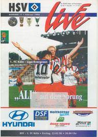 23.02.1996 Nr.11 HSV-1.FC Köln