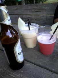 Cocktails beim Dorffest in Nebel