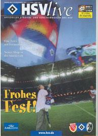 15.12. u 18.12.2001 Doppelausgabe Nr.9 &10 HSV-SC Freiburg & HSV-Energie Cottbus