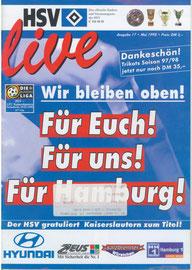 09.05.1998 Nr.17 HSV-1.FC Kaiserslautern