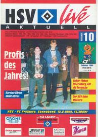 12.02.1994 Nr.10 HSV-SC Freibrug