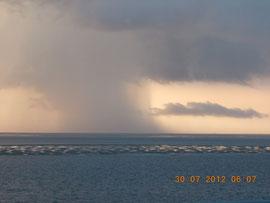 Unwetter in Richtung Föhr
