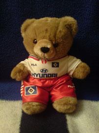 HSV-Teddybär mit Hyundai-Trikot