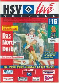 09.04.1994 Nr.15 HSV-Werder Bremen