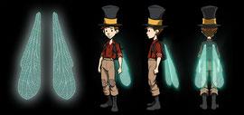 "Illustration der Libellenflügel für den Charakter ""Jerry Haselnuss"" aus dem PC-Adventure-Game ""The Night of the Rabbit"" © DAEDALIC Entertainment"