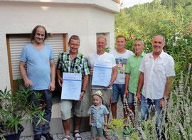 Unsere Mannschaft bei der Verleihung von Ehrenurkunden an Betriebsjubilare