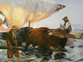 Joaquin Sorolla - Le retour de la pêche - 1894 (copie)