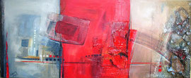 120x50cm, Collage Acryl auf Leinwand