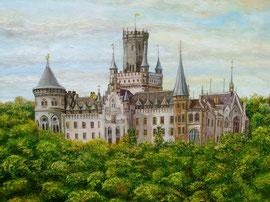 50x60cm, Schloss Marienburg, Acryl auf Leinwand