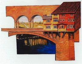 100x140cm, Collage Acryl