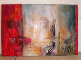 40x60cm, Collage Acryl auf Leinwand