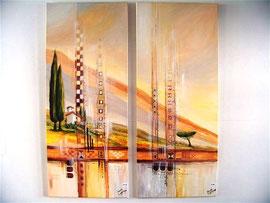 40x140cm, Acryl auf Leinwand