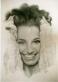 60x80cm, Bleistift auf Passepatout, Portrait