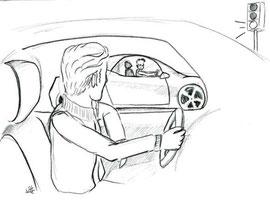Einstellung Autofahrer - Copyright© 2012 Natascha Stevenson