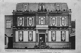 Le pensionnat - la façade en 1912