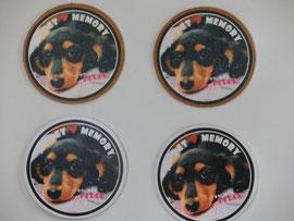クロム鞣し白にペット画像挿入 犬