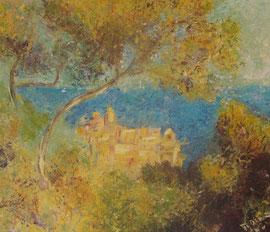 copie d'après Claude Monet - Antibes vue de la Salis 1888